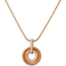 Swarovski Rose Gold-Tone Circle Pendant 1081976