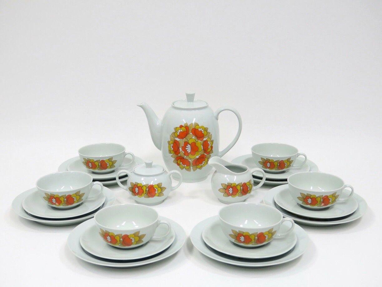 21 pezzi Servizio da tè Service di ARZBERG della serie 1382 Hermann Gretsch