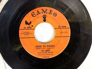 DOO-WOP-R-amp-B-45-THE-RAYS-The-Man-Above-Rags-To-Riches-CAMEO-133