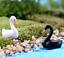 thumbnail 2 - Mini Swan Figurine Fairy Garden Ornaments Crafts Goose Model Miniature Animal