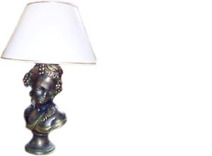 Antique Style Buste Lampe De Chevet Lampe De Table Lampes Luminaires Personnage Décoration Nouveau-afficher Le Titre D'origine