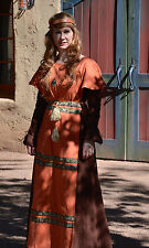 Von Lancelot Medieval Costume Gown Moleskin Dress Tunic Sz 14 Brown Rare SCA