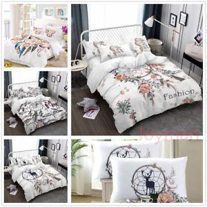 3D-Blossom-Dream-Catcher-Feather-Bedding-Set-Duvet-Cover-Quilt-Comforter-Cover