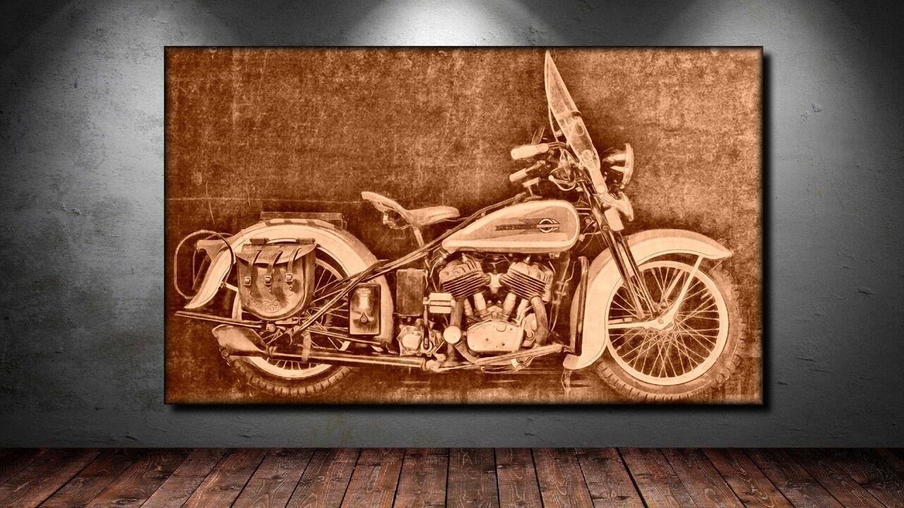 LEINWAND BILD ER XXL POP ART HARLEY DAVIDSON MOTORRAD ABSTRAKT POSTER  150x90