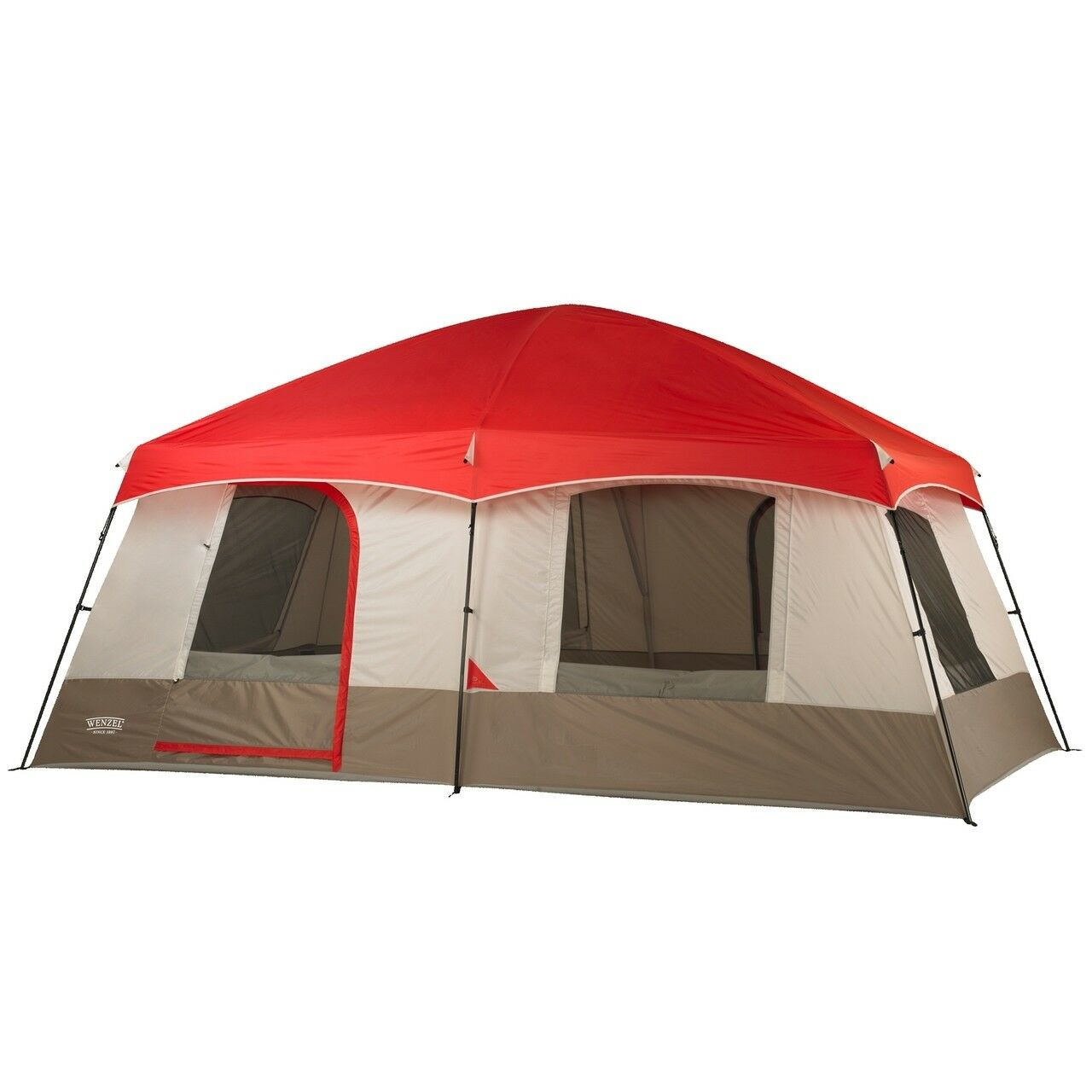 Timber Ridge 10 person tent creates a home away from home w  2 room walk in