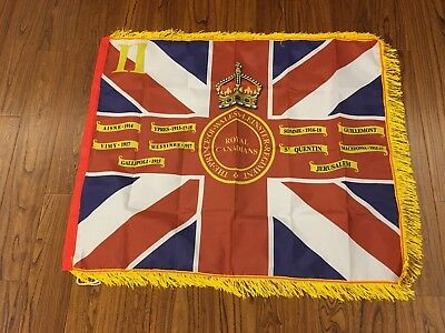 Prince of Wales/'s Leinster Regiment Kings Colours 2nd Battalion Fringed flag