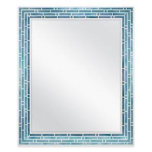 Merveilleux Image Is Loading Coastal Bathroom Mirror Mosaic Blue Tile Wall Decor