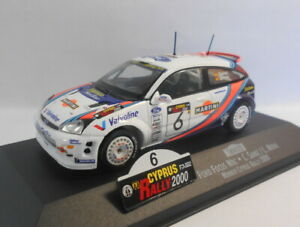 Skid-1-43-escala-Diecast-Modelo-SKW022-Ford-Focus-WRC-Winner-Chipre-Rallye-2000