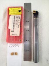 1 New 12 Carbide Boring Bar C08 Sclcr 2 With 10 Sandvik 2151 Um Inserts Q887