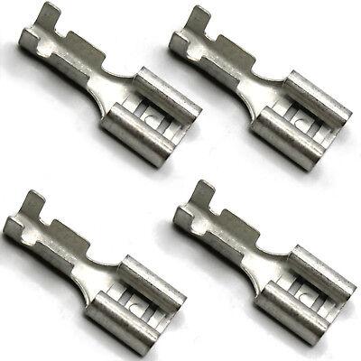 100 Kabelschuhe Kabelschuh 6,3mm unisoliert blank 0,5-1,5 Flachsteckhülse E5