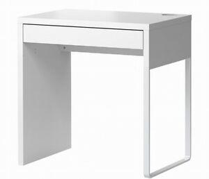 IKEA-MICKE-Computertisch-PC-Schreibtisch-Buerotisch-Buero-Tisch-WEIss-IK23