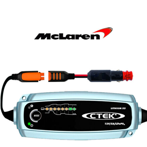 McLaren 720S Lithium Battery Charger Conditioner /& Custom Adapter