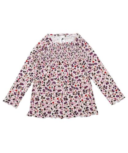 BNWOT GIRLS C/&A FLORAL PRINT TUNIC WITH SMOCK DETAIL AGE RANGE 2 TO 6 YEARS