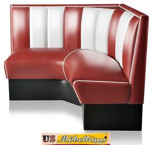 Das Bild Wird Geladen HW 120 120 Ru American Dinerbank Eckbank Diner