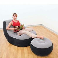 Inflatable Chair Ottoman Sofa Bed Reading Gaming Living Dorm Room Camping Chair