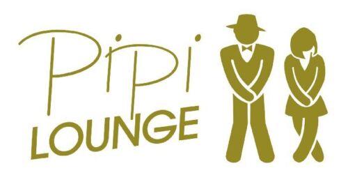 Wc Autocollants//sticker porte Autocollant pipi Lounge libre choix de la couleur