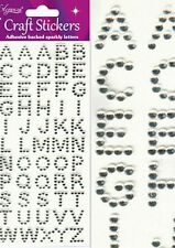BEAUTIFUL DIAMONTE GEM ALPHABET STICKERS FOR CARDS AND CRAFTS