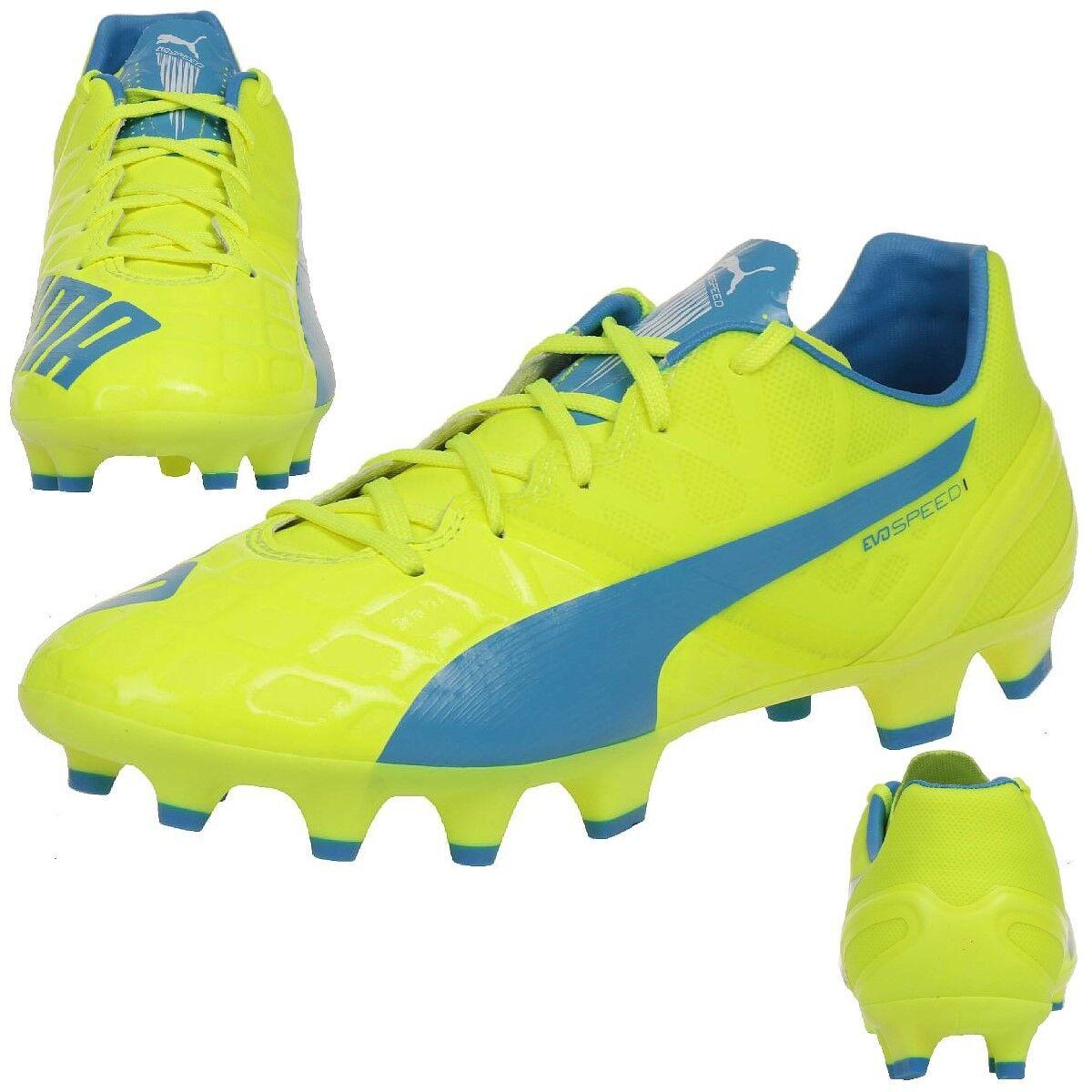 Puma Evospeed 1.4 Fg Jr. Niños Zapatos de Fútbol 103495 04 Amarillo