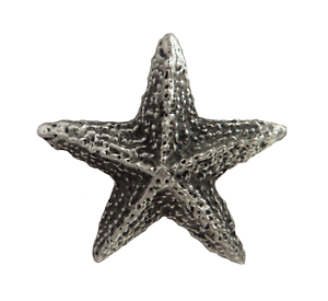 Starfish Pewter Pin Badge