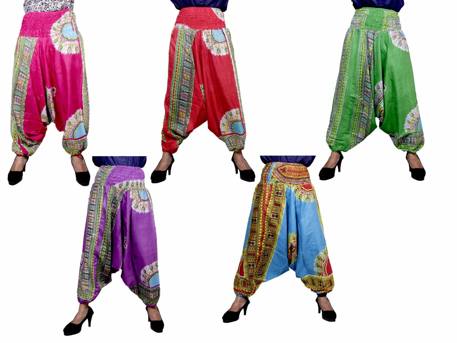 Apparels India 10Pcs Afghani Boho Trouser Baggy Harem Pants USA Wholesale Lot