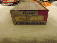 Continental Engines F140 F4140 1/4 Oil Piston Rings Set .040 Grant