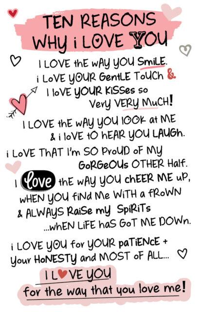 ten reasons why i love you