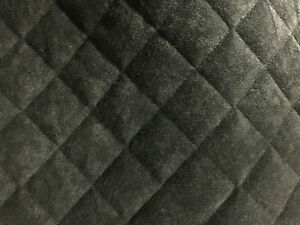 diamond quilted black plush car interior vw t5 van panel fabric carpet lining ebay. Black Bedroom Furniture Sets. Home Design Ideas