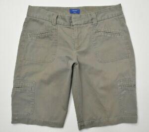 DOCKERS Size 8 Womens FAVORITE IDEAL Khaki BROWN Green Long CARGO Utility Shorts