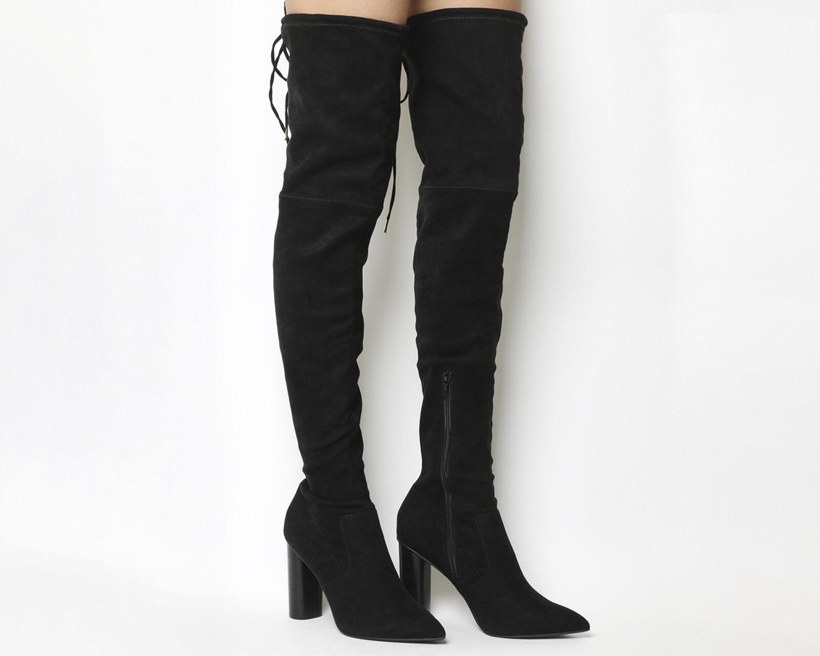 Office Kandy Shop Block Heel Over The Knee Damens Stiefel UK Größe 7