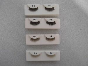 FULL DOLL EYELASHES IN A VARIETY OF COLOUR'S BLONDE DK BROWN LT BROWN Code D3