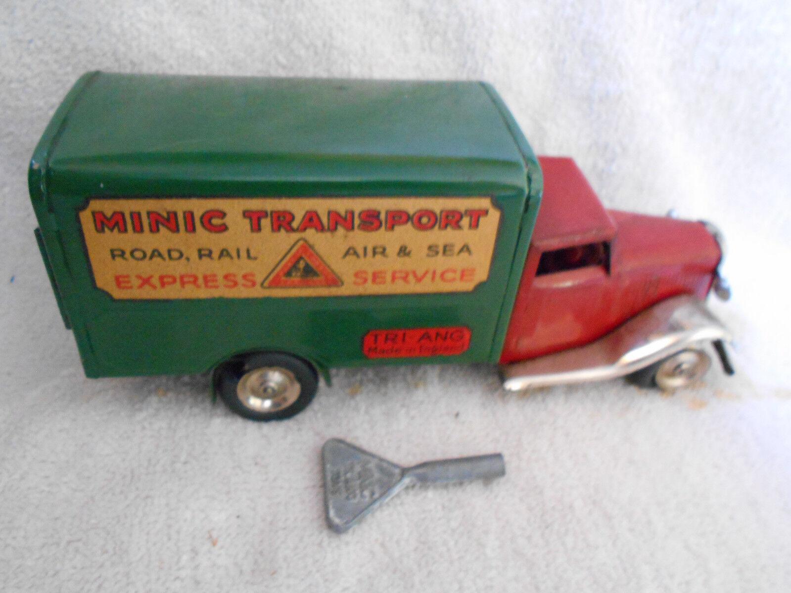 comprar ahora Camión Transporte Triang Minic Servicio Expreso Mecánico Cuerda Hecho En En En Inglaterra  ¡envío gratis!