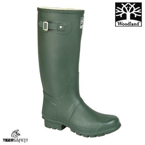 Woodland W260 Rubber Wide Fitting High Quality Unisex Wellington Boots Wellies