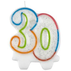 Image Is Loading 30th Birthday Cake Candle Number 30 Candles For