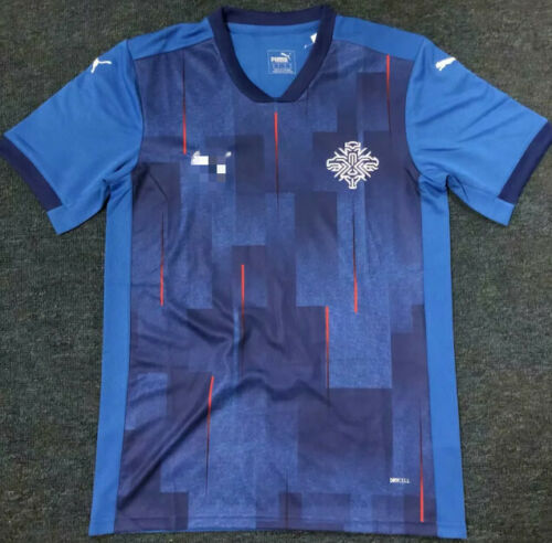 NEW 2020-21 Iceland Home Soccer Jersey Short Sleeves T shirt S-XXL