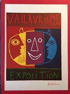 Vintage,Poster,1957 Offset Lithograph Platesigned PABLO PICASSO 1955 Toros 2