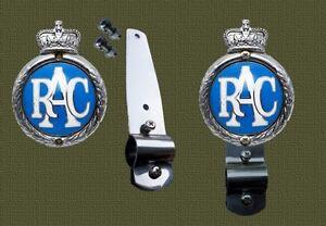Intelligent Inox Support à Fit Royal Automobile Club Rac Badge Pour Desmo Type Badge Bar-afficher Le Titre D'origine MatéRiau SéLectionné