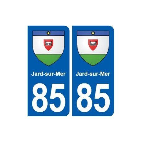 85 Jard-sur-Mer blason autocollant plaque stickers ville droits