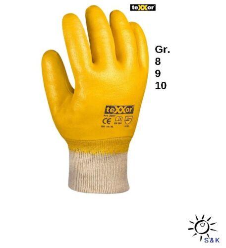 Texxor 2357 Nitril-Handschuhe vollbeschichtet Gr.8,9 + 10 - hoher Tragekomfort !