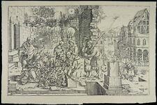 Adorazione dei pastori natale 1530 PLATINI legno taglio Adoration i35