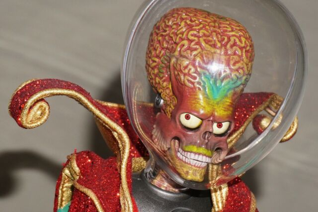 Rare Hot Toys Mars Attacks Martian Ambassador Movie Masterpiece Figure 1/6 Scale