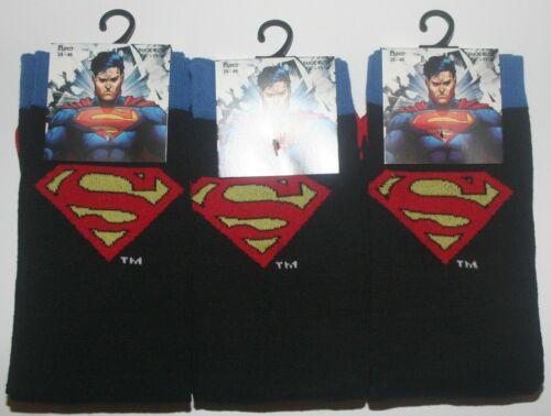 3 paia di Uomo Nuovo Di Zecca Ufficiale nel Comics Calzini Superman Taglia 6-11