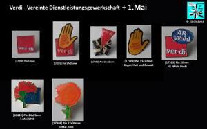 Verdi - Vereinte Dienstleistungsgewerkschaft und 1.Mai Abzeichen Pins AUSSUCHEN