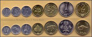 B-d-m Maldivas Maldives 1 5 10 25 50 Laari 1 2 Rufiyaa 2007-2012 Km 68-88 Sc Unc Bv7j6ulk-07225943-608577012