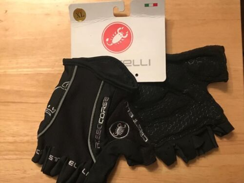 Black Castelli Rosso Corsa Cycling Gloves Mitt Size Extra Large XL