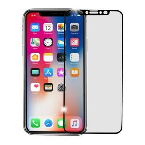 FULL COVERAGE Tempered Glass Black Screen Protector for Apple iPhone X