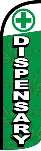Dispensary Windless Standard Size Polyester Swooper Flag Sign Banner