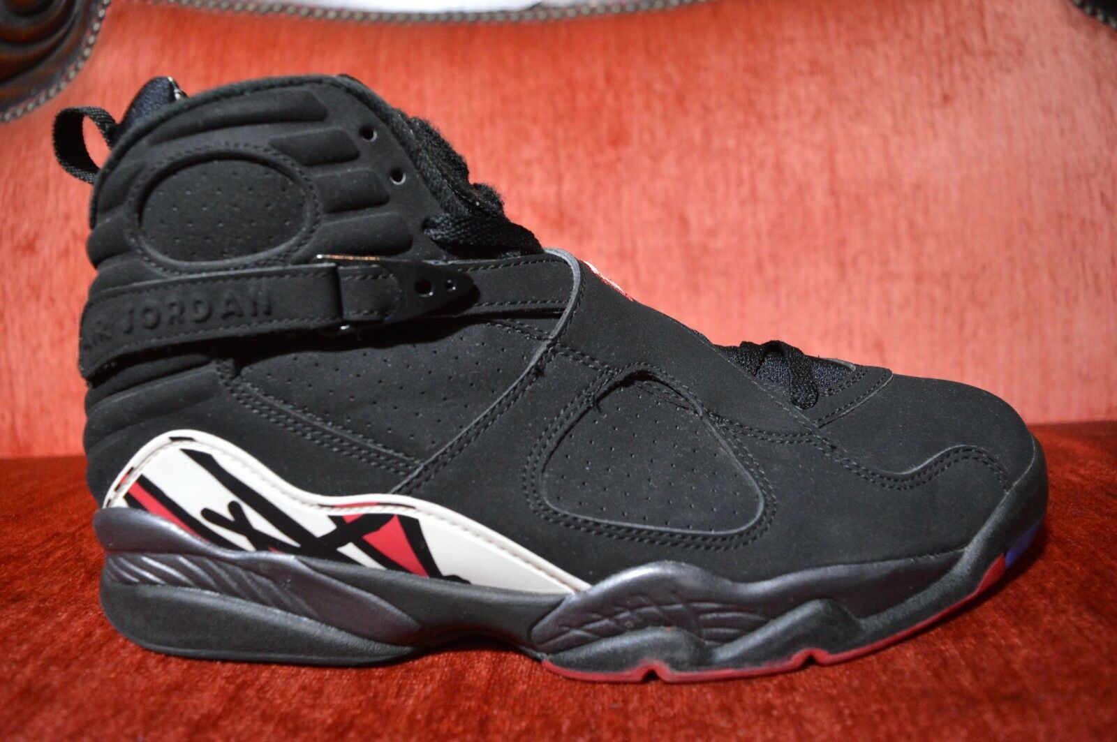 Nike Air Jordan 8 VIII Retro Playoff 2013 Black Red White Basketball Size 10.5