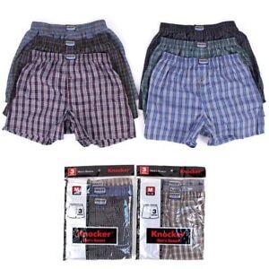 6-Mens-Plaid-Boxer-Shorts-Lot-New-Underwear-Pairs-Pack-Small-Medium-Large-XL-XXL