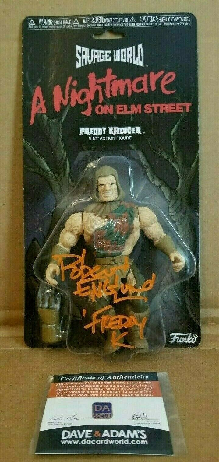 AUTOGRAPHED ROBERT ENGLUND SAVAGE WORLD A NIGHTMARE ON ELM STREET FREDDY KREUGER