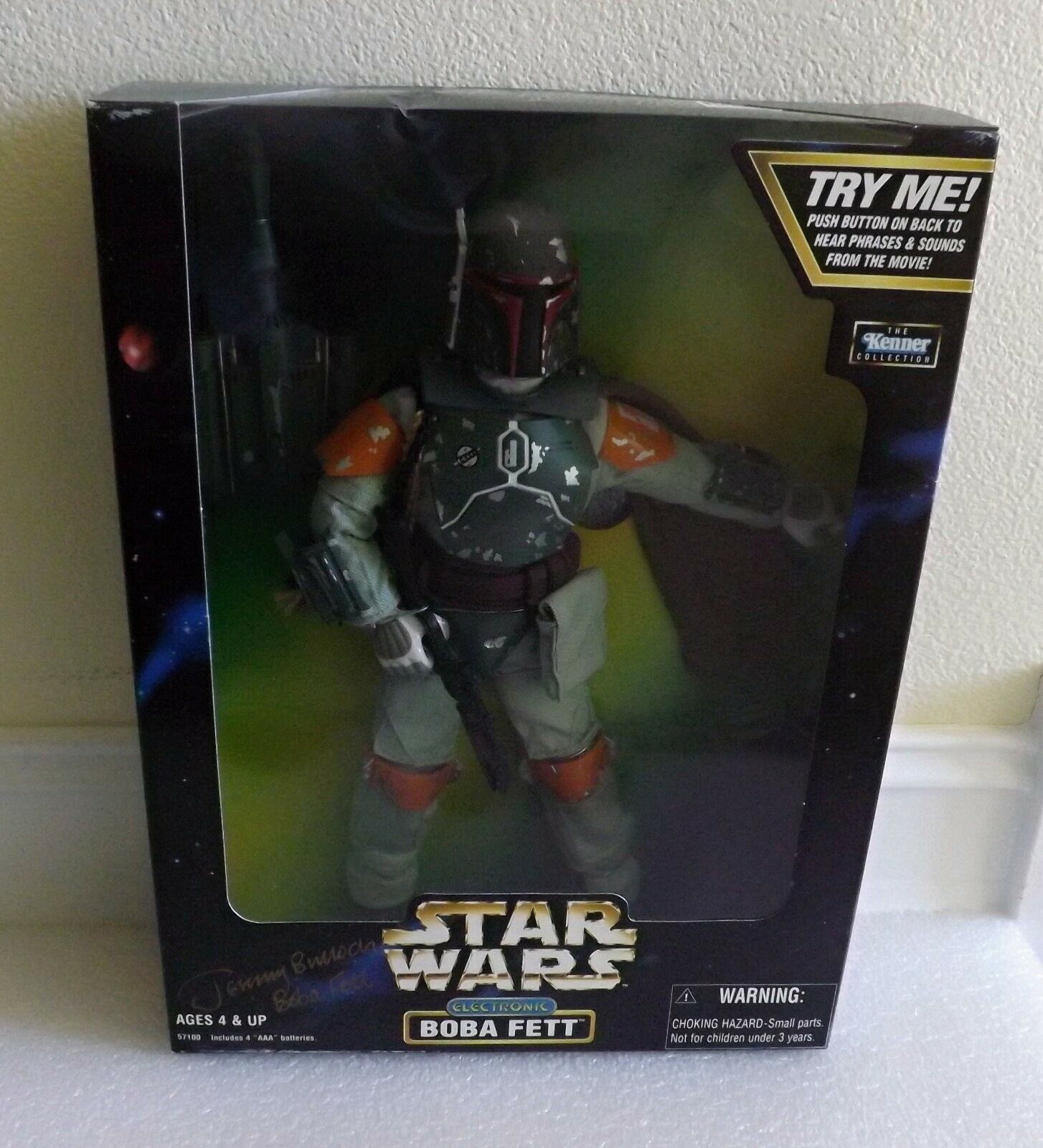 NEW 1998 KENNER ACTION COLLECTION ELECTRONIC BOBA FETT JEREMY BULLOCH AUTOGRAPH
